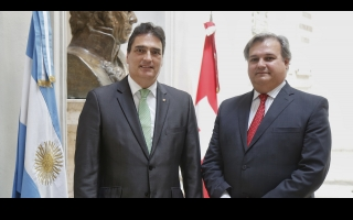 Minister Farías receives the Swiss ambassador